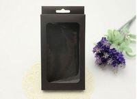 범용 간단한 블랙 인쇄 크래프트 소매 패키지 상자 포장 아이폰 5 초 6 초 거울 케이스 가죽 케이스 다시 커버