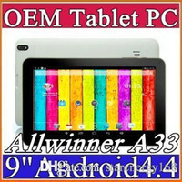 "10X DHL 9"" quad core tablet pc Allwinner A33 android 4...."