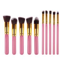 Высокое качество Maquiagem Makeup Щетки 10 шт. / Комплект косметики косметики красоты Blushing Blush Make Up Щетка набор инструментов набор WB0236