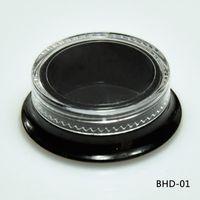 NEW Hot 100 مستحضرات التجميل مربع أسود الجرار سميكة جدار مربع حاويات الجمال - 3 مل / 3 غرام (غطاء واضح) جرة بلاستيكية فارغة ماكياج