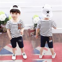 New Fashion Boys Clothing Set Summer Style Cotton O- Neck Sho...