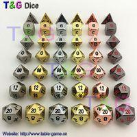 Jeu de dés de haute qualité en métal polyédrique numérique 6 jeux pour jeux de société DD d4 d6 d8 d10 d10% d12 d20