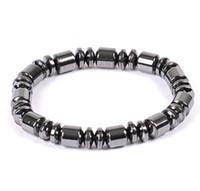 Perle 6 millimetri 8MM braccialetto collana mano Strings Natura ematite nera Barrel rilievo terapia braccialetto magnetico Wrap polso per lo Sport Uomo Donna