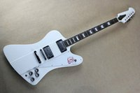 White Electric Guitar with 22 Frets, Chrome Hardware, Rosewood...