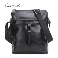CONTACT' S Famous Brand Genuine Cow Leather Men Bag Casu...