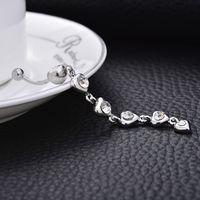 الكريستال الماس والمجوهرات الزركون ثقب الطبية الصلب السرة ملهى ليلي الرقص الشرقي زر البطن