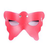 Red Leather Studed Butterfly Mask Meister Dom SM Queen Flogger Outfit BDSM Bondage Fetisch Sex Restraint Produkt