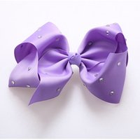 30pcs 8 In Jojo Siwa Bows Rhinestone Hair Bows Fashion Jojo ...