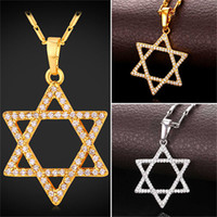 Magen David Pendant Necklace Women' s Platinum Plated 18...