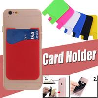 Universal Ultra-Slim auto-adhésif Credit Card Wallet Card Set Porte-carte colorée téléphone portable en silicone pour iPhone 12 Pro Max 11 XS XR X