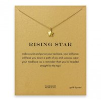 Pendant Necklace Gold Short Rising Star Good Luck twinkle ti...