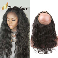 Gratis 360 spets frontal stängning brasiliansk peruansk indisk mongolsk kroppsvåg mänsklig hår försäljning bellahair naturlig färg oskuld