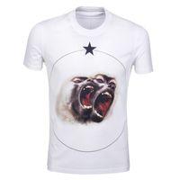 moda estate stile nuovi uomini t-shirt stella di cotone 3D scimmia maglietta manica corta casual maglietta Camiseta maglietta da uomo di marca