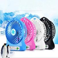 Taşınabilir Mini USB Soğutma Fanı Şarj Edilebilir DC 5 V USB Alet Masası Dizüstü Dizüstü Cep Masa Fan Için 18650 Pil 1200 mAh Mini Handy Fan