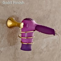 Newly Bathroom Hair Drier Holder Golden Polished Stainless S...