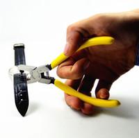6 بوصة المهنية ووتش إصلاح watchband هول آلة الناخس ووتش الأشرطة كماشة اللكم forcep الشريط لكمة حزام ثقب أدوات يدوية