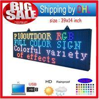 Spedizione gratuita Full Color RGB Programmable LED Signs / P10 39 di 14 pollici Display a scorrimento a LED a LED da 14 pollici
