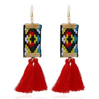 Bohemian Long Tassel Earrings for Women Ethnic Colorful Boho...
