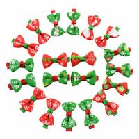 Carino clip di capelli delle neonate arco del nastro della clip di capelli dei bambini di Bowknot Tornante bambini Accessori per capelli Boutique Ornamenti di Natale