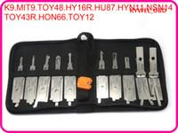 Le décodeur et le verrou Auto 2 en 1 choisissent les modèles asiatiques 10 pièces d'un paquet pour la clé K9 MIT9 TOY48 HY16R HU87 HYN11 NSN14 TOY43R HON66 TOY12