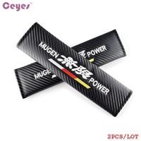 Housse de ceinture de sécurité pour Mugen Power Honda civic crv accord Hrv Housse de ceinture de sécurité en fibre de carbone Car Styling 2pcs / lot