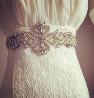 Bling Bling Bridal Blombs Wedding Sashes Top Quality Bianco, Avorio Accessori da sposa Bridal Nuovo arrivo a buon mercato