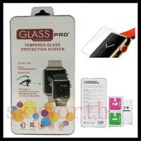 Para Apple Seguir 2 3 4 0.2mm 2.5D 9H pantalla de cristal templado Flim paquete Protector de pantalla con Retal