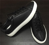 100% Sheep Leather Shoes new arrived black white color Casua...