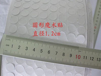 Nova Venda Quente 150 conjunto / lote 12mm Branco Eco Mágico Pegajoso Autoadesivo GanchosLoops Tape Dots Almofadas Rodadas Roupas Artesanato H210907