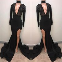 Fabulous Fashion Black High Neck Prom Dresses 2018 Appliqued...