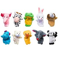 10pcs Finger Puppet Cartoon giocattoli peluche Biologico dito animale Puppet Child Baby favore bambole Finger Puppets Toys
