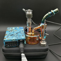 kit de unhas E Quartz dab elétrica prego dabber portátil plataforma de Ti / Qtz prego vaporizador enxugando Atualize caixa digitais PID para bong água de vidro