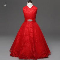 Formal Big Girls Flower Dresses Bridesmaid Costume Children ...