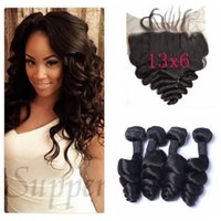 13x6 Bleached Knots Full Frontal lace Closure With Human Hai...