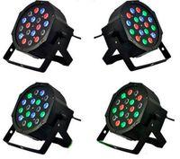 RGB LED Par Işık 18x3 W 110 V 220 V Sahne Etkisi Aydınlatma Ampülleri Ile DMX512 Ekipman Fonksiyonu DJ Disko Düğün Parti Dekorasyon CE Rosh Için