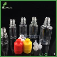 Frasco de cigarrillo electrónico Botellas de vacío Botellas vacías A prueba de manipulaciones plásticas Manipulador de botellas evidentes 5ml 10ml 15ml 20ml 30ml 50ml Botella de gotero para mascotas