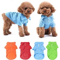 Pet Puppy Colorful Polo estive Pet Dog Cat Pet Abbigliamento Costume T-Shirt Pet Supplies