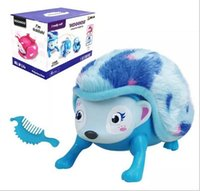Interactive Pet Hedgehog con Multi-modos Luces Sonidos Sensores Light-up Eyes Wiggy Nariz Walk Roll Headstand Curl hasta Giggle juguetes para niños