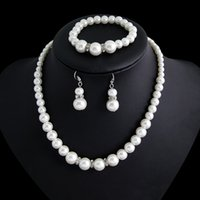 1Sets Classic Imitation Pearl Clear Crystal Top Elegant Part...