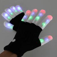 Gants de coton pure de mode de mode flash flash noir doigts blancs de coton coloré de la décoration de fête de fête de fête