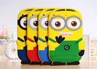 3D Silicone Cute Minions Despicable Me2 Case Soft Cartoon Ba...