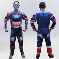 2017Adult muscle clothing children' s captain America co...