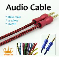 1M Braided Audio Cable Aux Adapter 3. 5mm Stero Male to Male ...