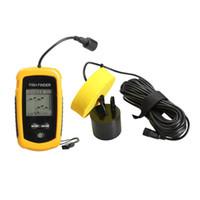 Wholesale-2016 Venture Sonar Fish Finder Waterproof Wireless Fishfinder For Boat Beach Sea Ice Fishing 100m Depth