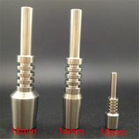 (miglior prezzo all'ingrosso) 10mm 14mm 18mm chiodo in titanio gr2 kit per vetro collettore per unghie nettare usato senza cupola made in china