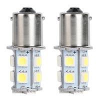 10PCS LED 자동차 전구 1156 BA15S 18SMD 12V 백색 LED 전구 회전 백업 예비 꼬리 주차 사이드 마커 라이트 범용 LED 램프