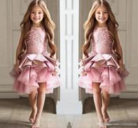 La ragazza di fiore veste la ragazza quadrata dei vestiti dalla ragazza del pizzo dei vestiti convenzionali per i vestiti da comunione della festa nuziale