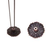 Commercio all'ingrosso- 1 pz Forma di loto Metallo Incenso Piastra Bruciatore Porta Bruciatore 9 fori per Stick Cono Cono Incenso Buddista Dono decorativo per la casa