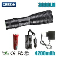 UltraFire CREE XM- L T6 3000 Lumens Zoomable LED Flashlight T...