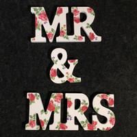 2017 Nuevas decoraciones de la boda de madera en el Sr. Floral Mrs Style High Quality Hecho a medida letras de madera para bodas